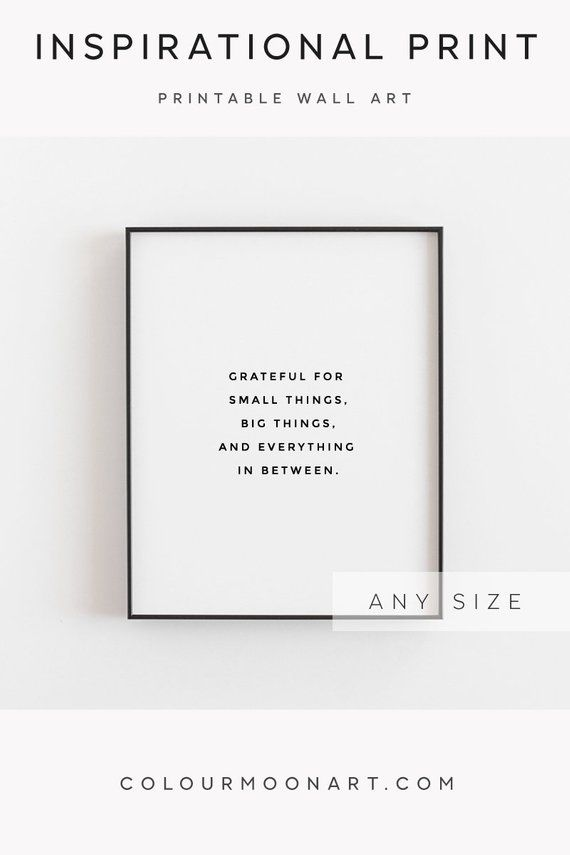 Grateful For Everything Printable Quote Gratitude Quotes Etsy Decor Home Decor Wall Art Home