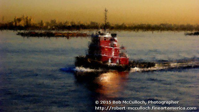 #Beautiful World#bob mcculloch#digital photo art#photography#fine art#tug boat#nyc
