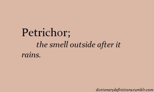 Petrichor..