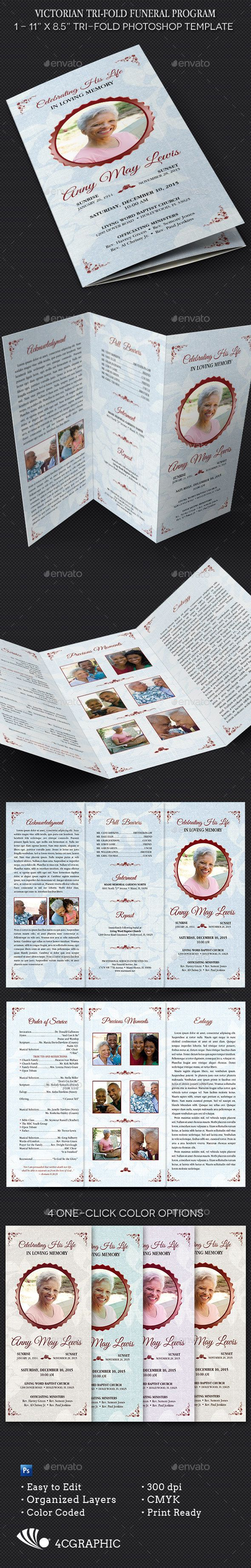 93 best funeral program templates images on pinterest funeral
