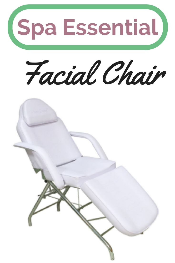 the facial Chair is Essential to every spa AD- The PureSana Adjustable Facial Chair White can be positioned from slight incline to a completely upright position to make spa facial treatments easier in any size salon. Fully upholstered and cushioned. The adjustable backrest and footrest provide maximum client comfort. Face cutout with pillow insert.