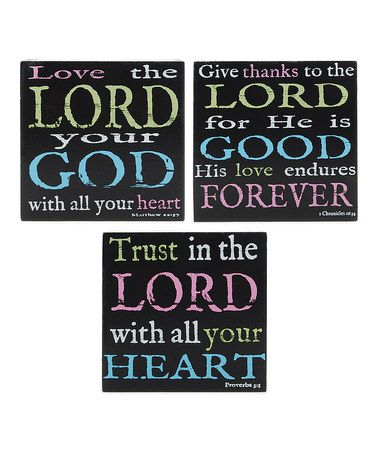 Look what I found on #zulily! 'Lord' Wall Box Sign Set by Blossom Bucket #zulilyfinds