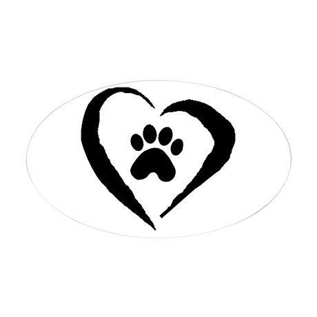 Heart Oval Decal on CafePress.com