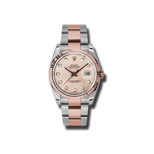 You will be fascinated by the marvelous dial immediately you lay eyes on this variation of the Oyster Perpetual Datejust from Rolex. The pink champagne dial...