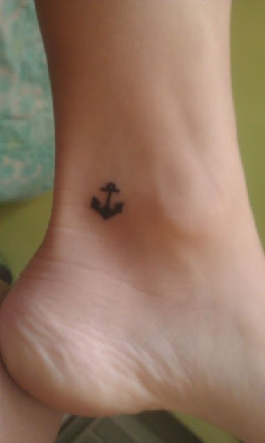 Small foot anchor tattoo design for the home pinterest - Small foot design ...