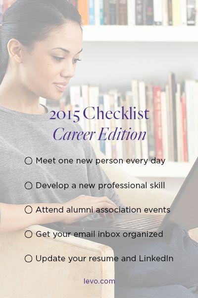 2015 Checklist: Career Edition. Career PlanningCareer AdviceNew .