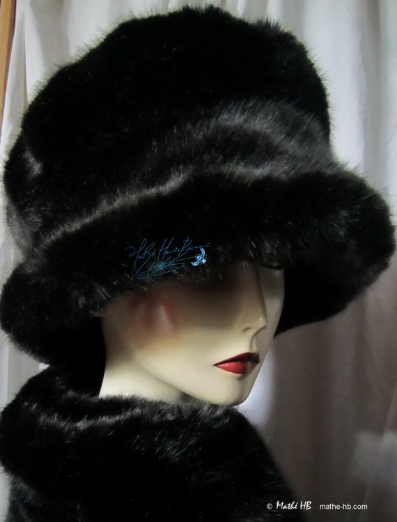 winter hat on order the lady in black faux-fur par MatheHBcouture