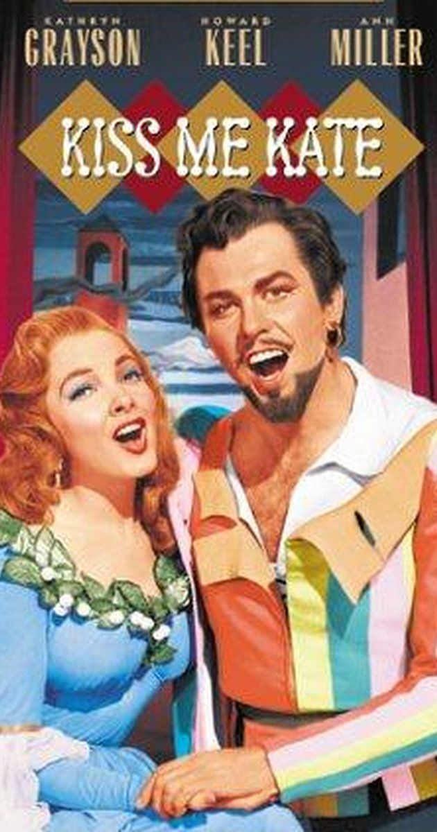 Directed by George Sidney.  With Kathryn Grayson, Howard Keel, Ann Miller, Keenan Wynn. Fred and Lilly are a divorced pair of actors who are brought together by Cole Porter who has written a musical version of The Taming of the Shrew. Of course, the couple seem to act a great deal like the characters they play. A fight on the opening night threatens the production, as well as two thugs who have the mistaken idea that Fred owes their boss money and insist on staying next to him all ...