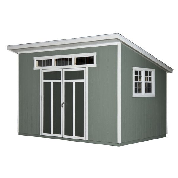 shop heartland home and garden heartland metropolitan x lean to engineered wood storage shed at lowes canada find our selection of storage sheds at the