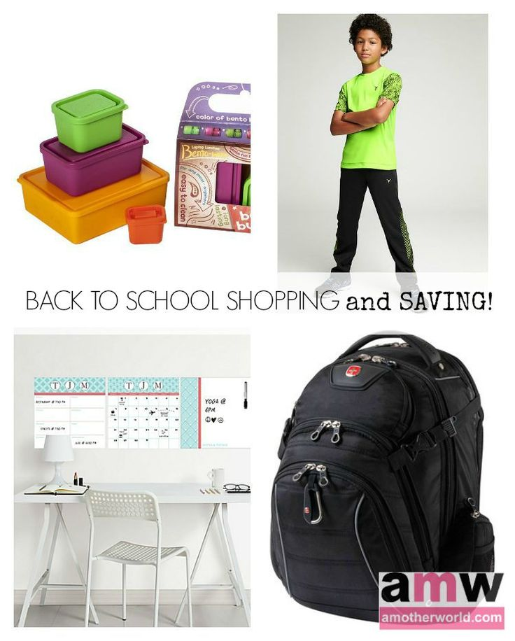 back to school shopping and saving