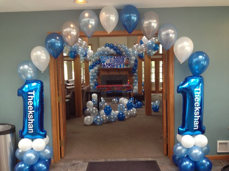 17 best images about first birthday balloon decor on for Baby boy 1st birthday decoration ideas
