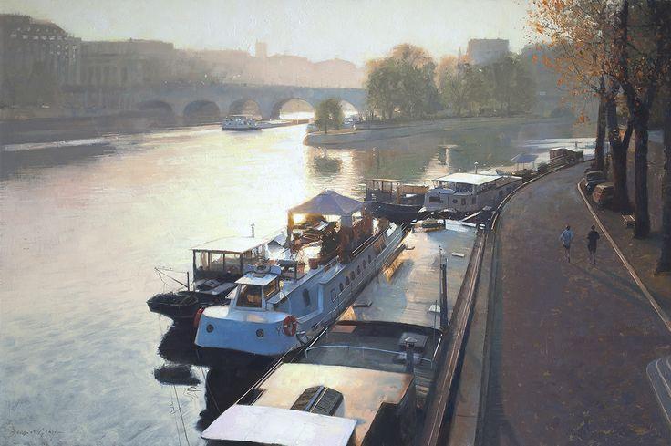 Jogging along the Seine, douglas Gray