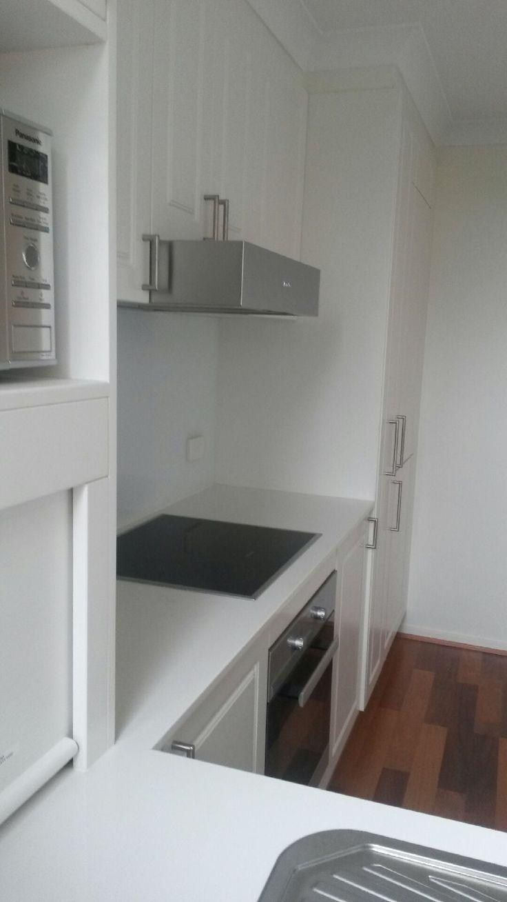 New kitchen in apartment renovation.   Nov 14 #kitchen #Kingston