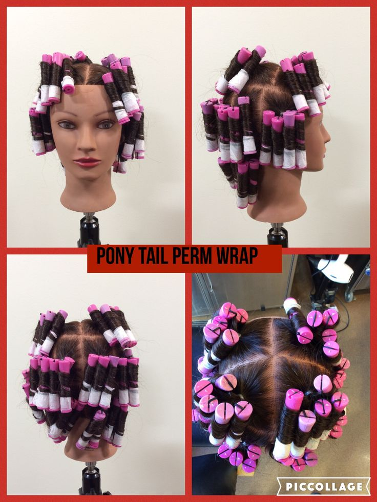 Pony tail perm wrap