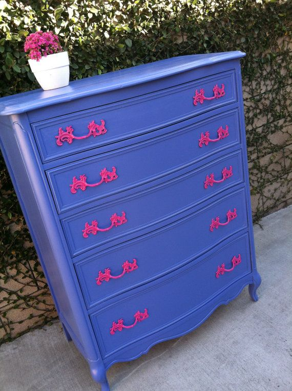 A fresh coat of paint can make your grandmother's old dresser stylish and modern. So cute for a little girl's room!