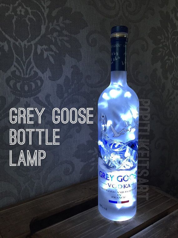Grey Goose Vodka 700ml Lamp Light Upcycled Bottle Unique