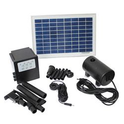 Solar Powered 8-watt 18-volt Water Pump with Battery and Timer   Overstock.com Shopping - Big Discounts on Fountains & Ponds