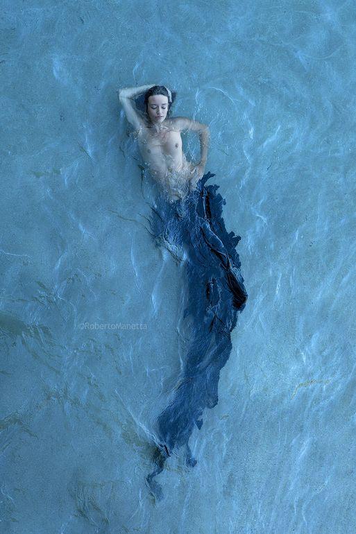 "Saatchi Online Artist: Roberto Manetta; C-type 2013 Photography ""The black mermaid (limited edition)"""