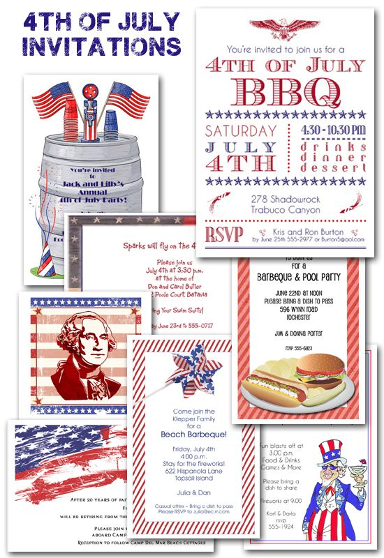 invitations for july 4th