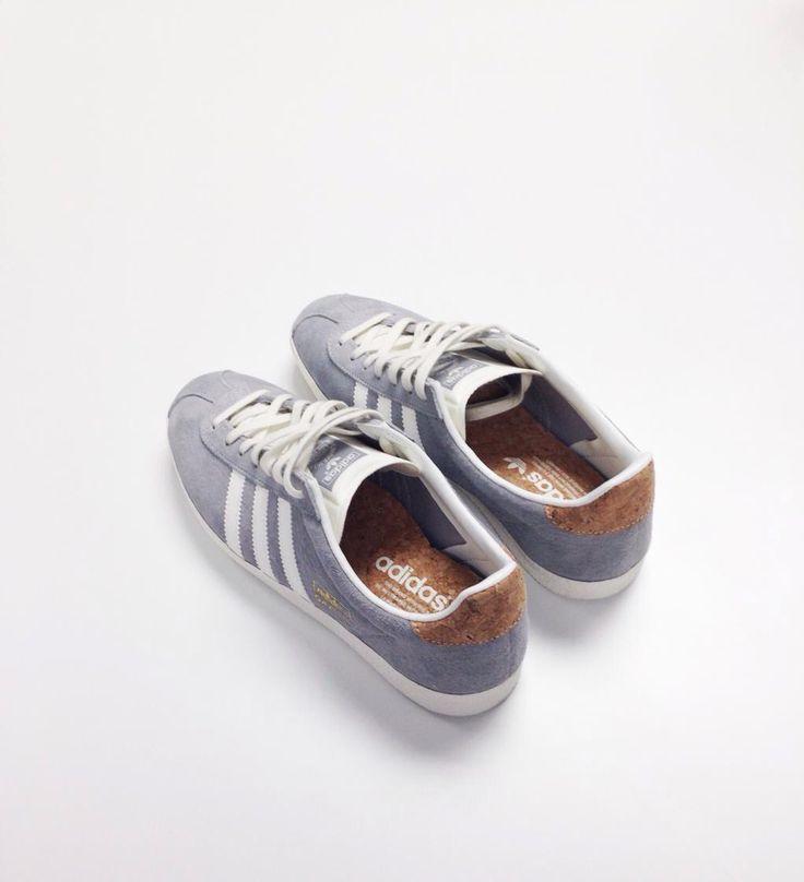 Adidas Gazelle trainers in grey suede