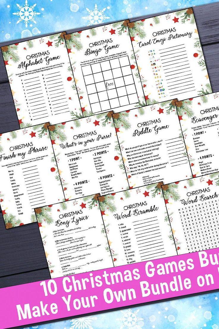 Christmas BundleChristmas Games PackChristmas Games Etsy