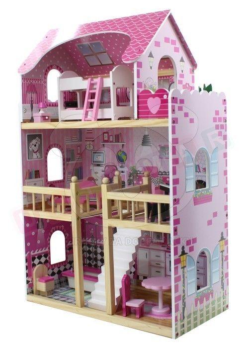 Dřevěný domeček pro panenky - 2 patrový