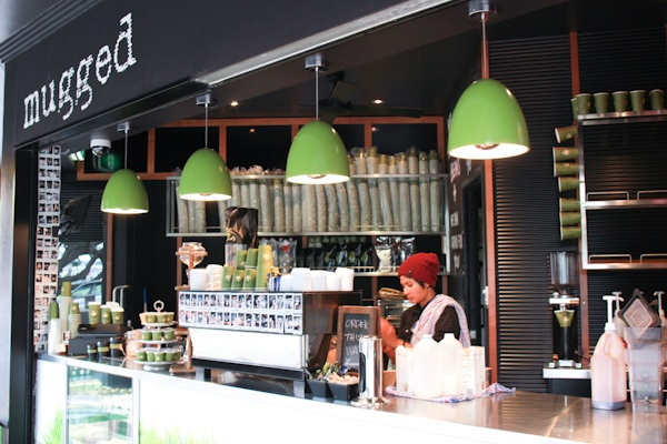Mugged Espresso Bulimba. I love their fit out. Emphasis on good take away coffee.