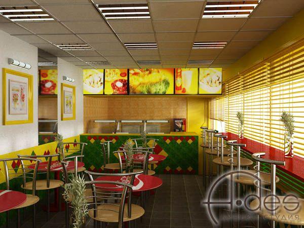 Дизайн-проект интерьера и экстерьера сети кафе быстрого питания | Дизайн-студия A-DES (Ростов-на-Дону)