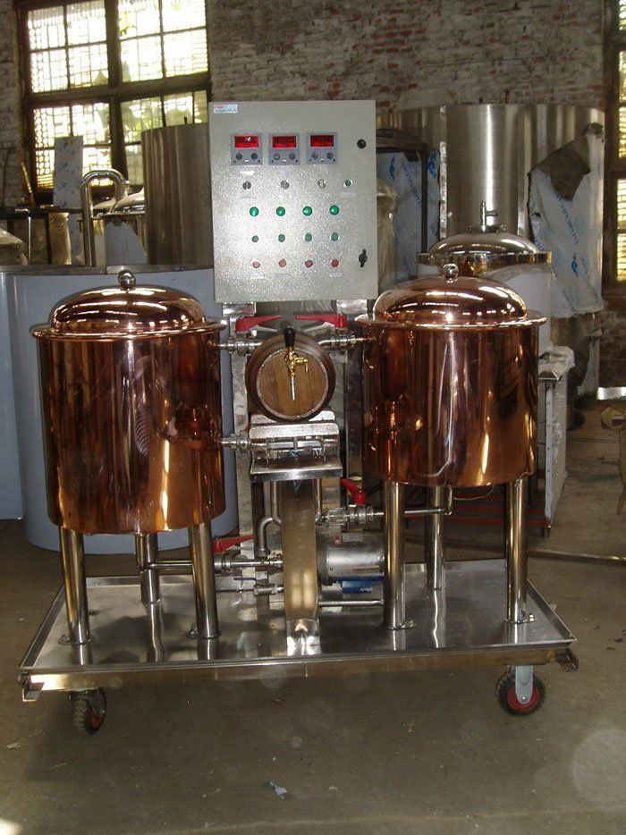 red copper home brewing equipment, micro brewery, mini beer machine