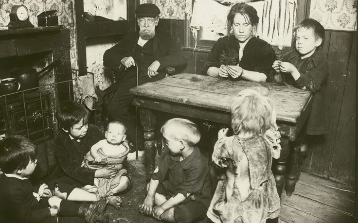 A Family in their Home in Bethnal Green, London by  Unknown Artist