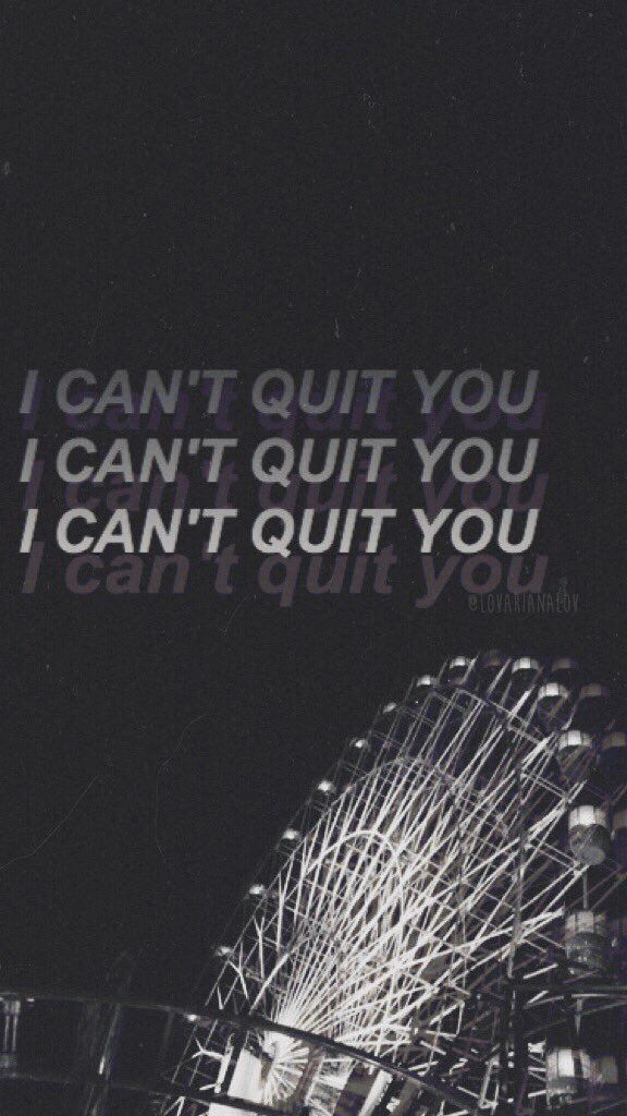 Quit | Cashmere Cat ft. Ariana ⇝≫✿PINTEREST: @glamitalex ✨ INSTAGRAM: @glamitalex ✨✿≪⇜