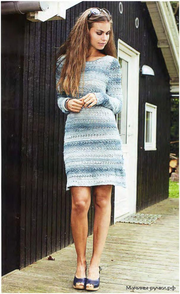 """Ажурное платье """"Снегурочка"""", вязаное крючком (dress snowgirl crochet)"""
