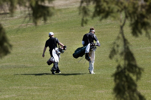 The BSU men's golf team defeated Minnesota, Crookston in a duel April 20, 2012.  Check out more photos for the event at: http://www.bsubeavers.com/mgolf/photos/271/