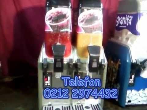 Granita Makinaları Buzlu Şerbetlikler : Granita Makinası Karlı Buzlu İçecek Makinesi 0212 2370749