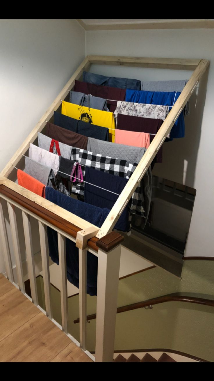Loundry rack custom made in our stairway (Hapso)