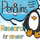 Penguin Research for Kinder (110 pages)  includes –  *Penguins can/have/are chart *Penguins know/wonder/learned chart *Penguin labeling *Penguin Re...
