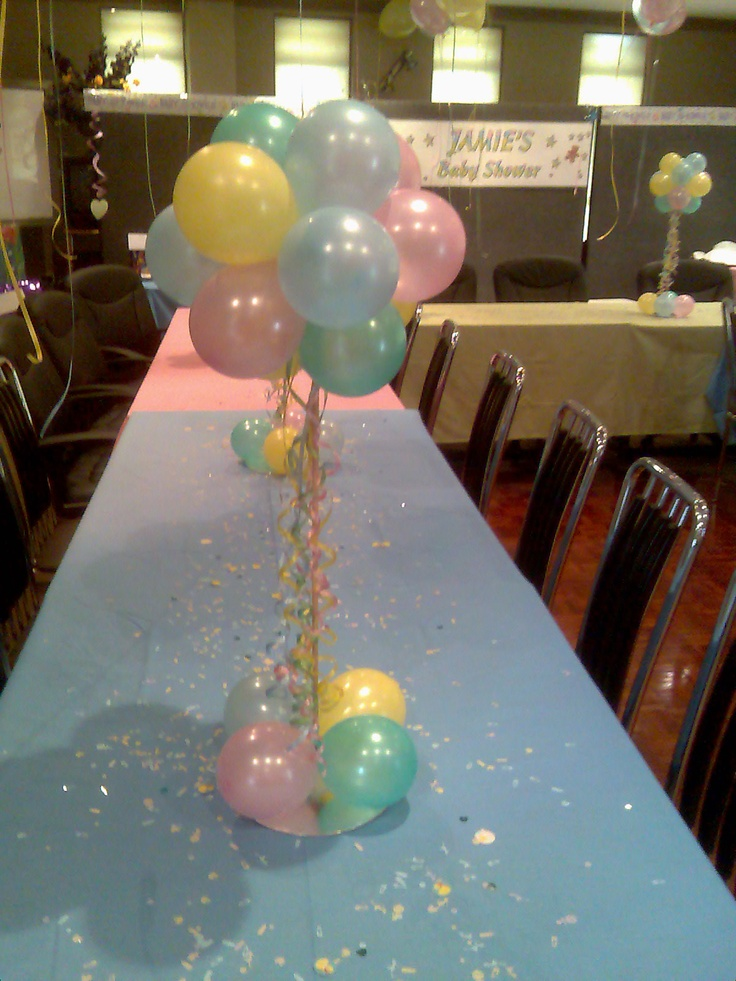 Pastel Colours For Baby Shower Air Table Arrangements