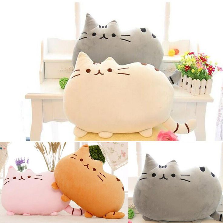 New Pusheen Pillows Cat Sleeping Peluches Anime Pillow With Zipper Only Skin Without PP Cotton Biscuits Big Cushion Anime Plush