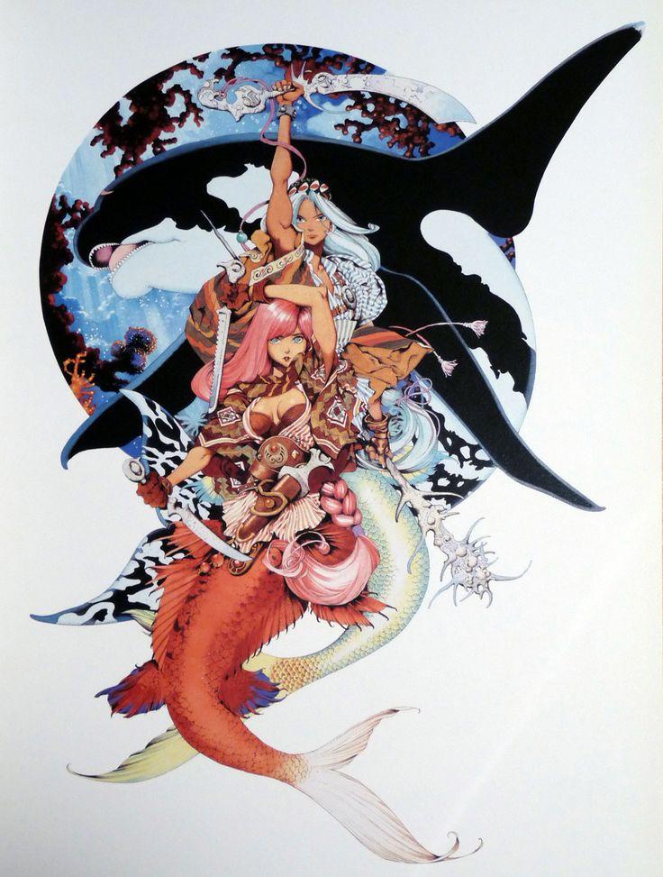Shinkai Densetsu Meremanoid from Fantasy Art Works by Yamada Akihiro