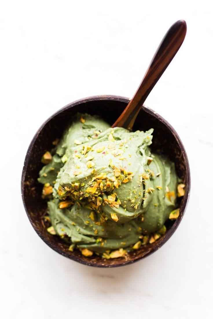 Vegan No-Churn Pistachio Ice Cream