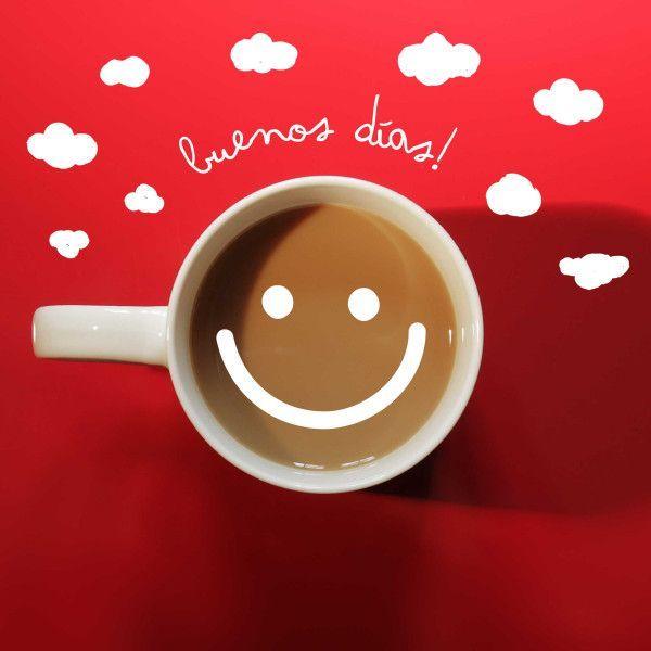 Buenos días por la mañana!!! Buena taza de café para volverse a despertar #buenosdias #tazadecafe #sonrientes #pasarbuendia