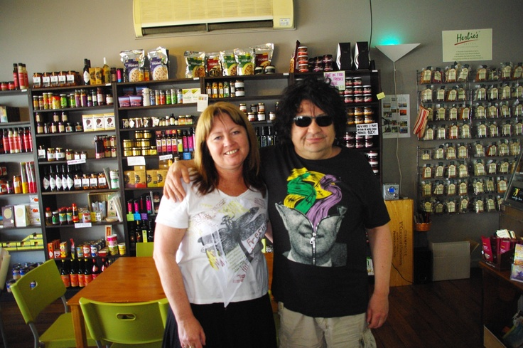 Richard Clapton and I in 2011 at Bent on Food