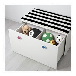 IKEA - STUVA / FÖLJA, Storage bench, , With the included colorful stickers, you can quickly label drawers and cabinets in your own…