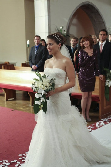Sophia Bush (Brooke Davis Baker) on her wedding. I absolutely LOVE this dress <3 <3!!!!!