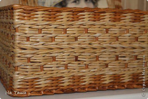 Поделка изделие Плетение Наплела    Бумага газетная фото 2