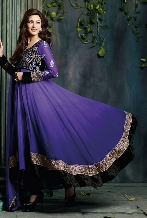 Purple Anarkali | Sonali Bendre Collection