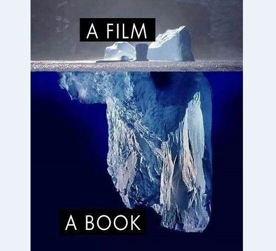 The difference between a film and a book.. in a nutshell ( and a great graphic!)
