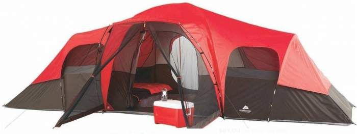 Ozark Trail 10 Person Tent With Screen Porch 21x15 Extended Dome Tent Large Tent Camping Family Tent Camping 10 Person Tent