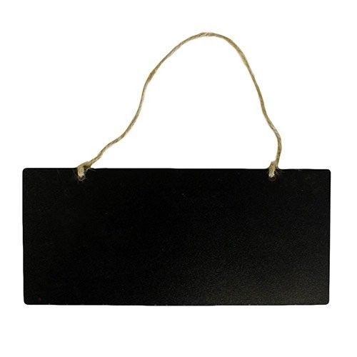 Small Flat Board Strung 18x8cm | Hip Angels Small Flat Board Strung, size 18x8cm,  Perfect for artisan restaurants and deli's, pubs (those craft beers).  Clearly labelled and priced products in an arty way can only boost your image and sales. #Wholesaler_Retail_Display #Hip_Angels_Wholesaler #Black_Boards #Wholesale_Black_Boards