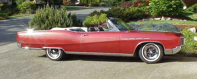 1967 Buick Electra 225 Convertible - This is the kind of car I learned to drive in, except my mom's had different hubcaps and the boot was black.